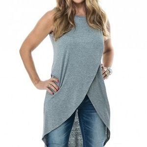 NWT Grey Women Tunic Long Hemline